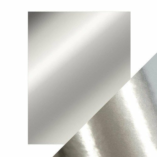"Craft Perfect Mirror Cardstock 8.5"" x 11"" 5/pkg - Chrome Silver"