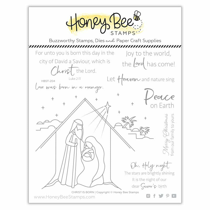 Honey Bee Stamps Christ is Born