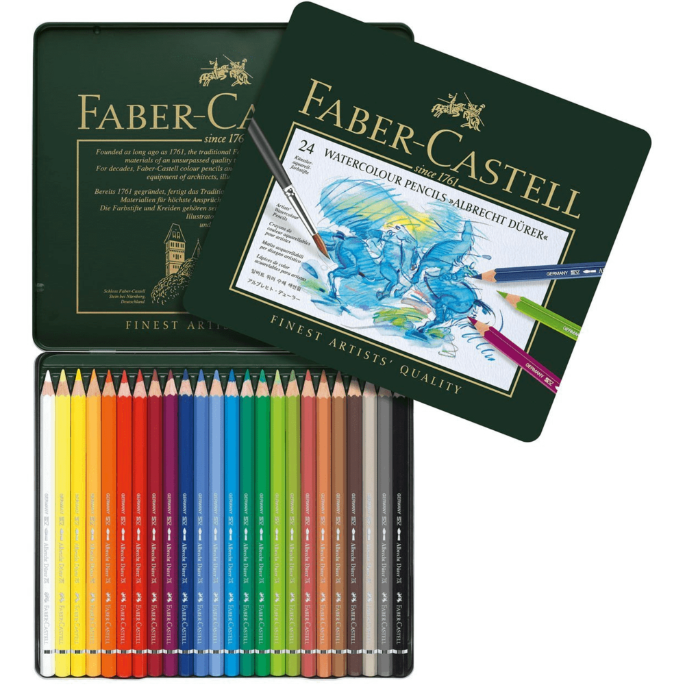 Load image into Gallery viewer, Faber-Castell | Watercolor Pencil Set in Metal Tin 24pc