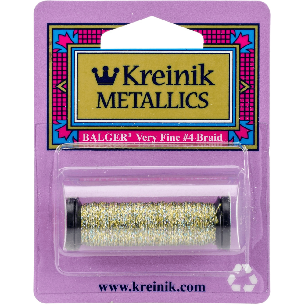 Load image into Gallery viewer, Kreinik | Metallic Cord Very Fine 1-Ply 12yd | 045 11M Confetti Gold