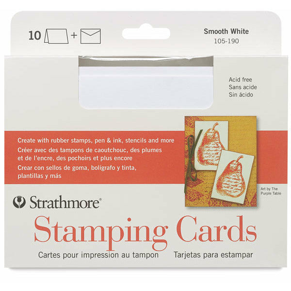 "Strathmore Smooth White Stamping Cards | A7 5""x6.875"" 10 Pack"