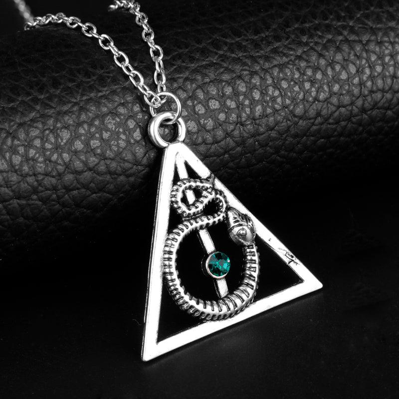 Harry Potter Deathly Hallows Pendent Snake Charm Necklace - Bags of Shizzle