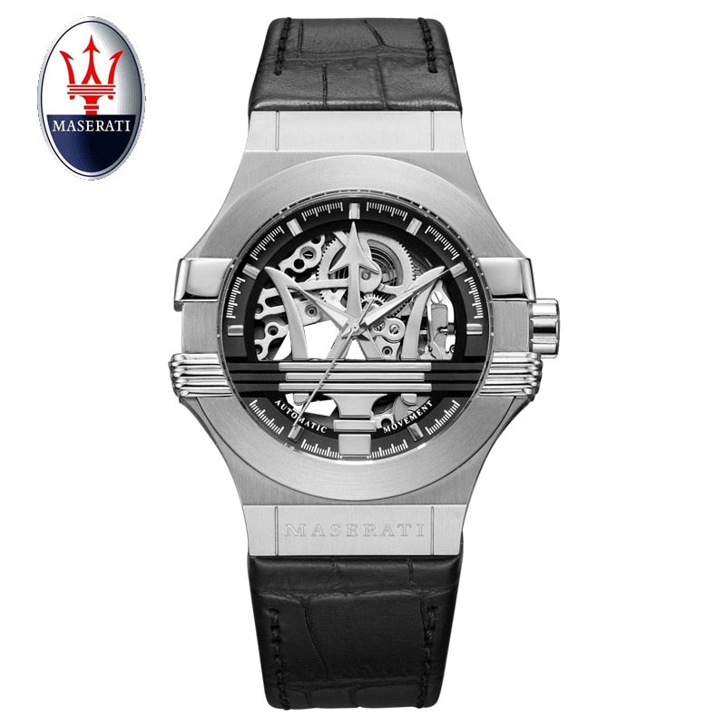 Maserati Men Automatic Watch Luxury Mechanical Wristwatch - Bags of Shizzle