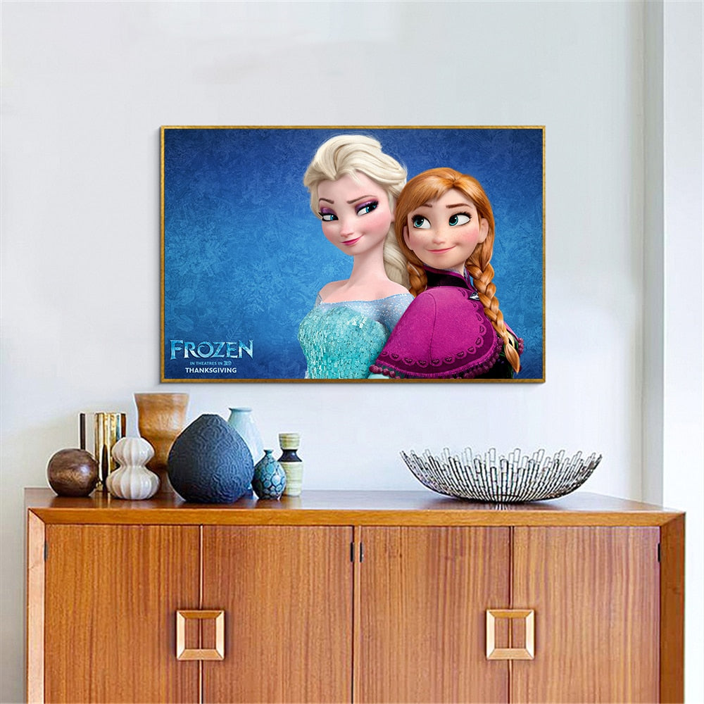 Frozen Movie Canvas Poster - Bags of Shizzle