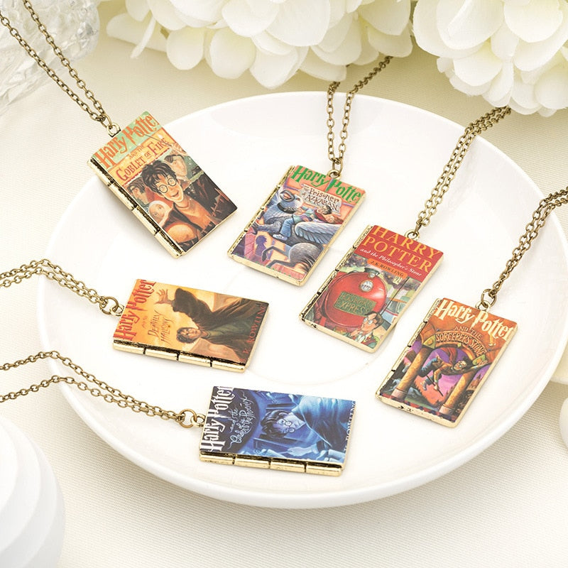 Harry Potter Magic Book Series Pendant Necklace - Bags of Shizzle