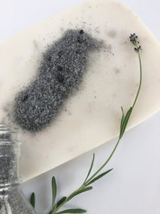 Charcoal Peppermint Salt Soak