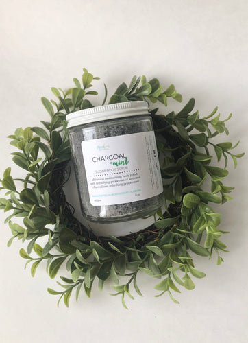 Charcoal + Peppermint Detox Sugar Body Scrub