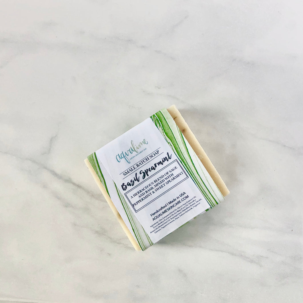 Basil + Spearmint Shea Butter Soap Bar