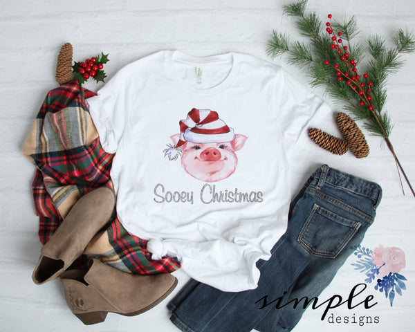 Plain Sooey Christmas Shirt, Pig Christmas, Farm Animals