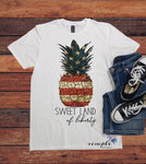 Sweet Land of Liberty T-Shirt, 4th of July Shirt , America Tee, Pineapple