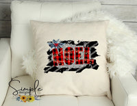 Noel Pillow Sham, Decorative Pillow Cases, Throw Pillow