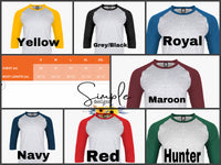 Custom Sports T-shirt, Long Sleeve Tees, Raglans