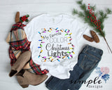 My Favorite Color is Christmas Lights T-shirt, Christmas Shirts