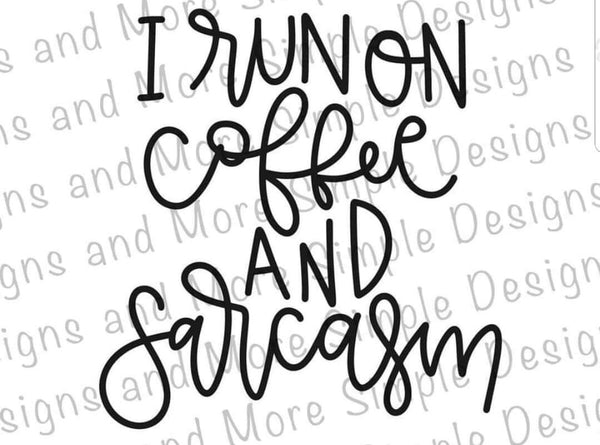 Running on Coffee and Saracasm T-shirt, Raglan, humor