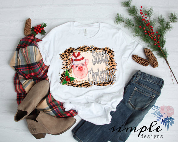 Sooey Christmas Shirt, Pig Christmas, Farm Animals