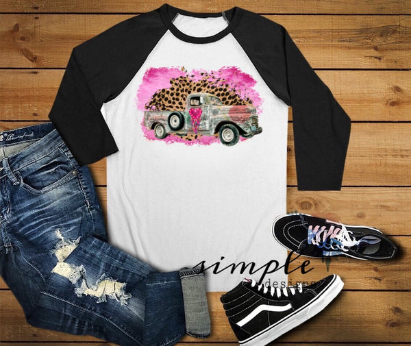 Heart Antique Truck Shirt, Old Trucks