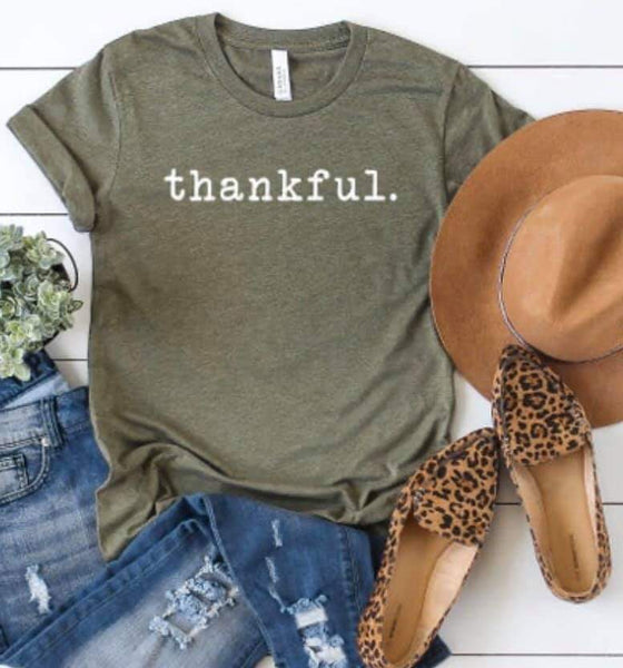 Thankful Thanksgiving T-shirt Sale Bella Canvas Tees