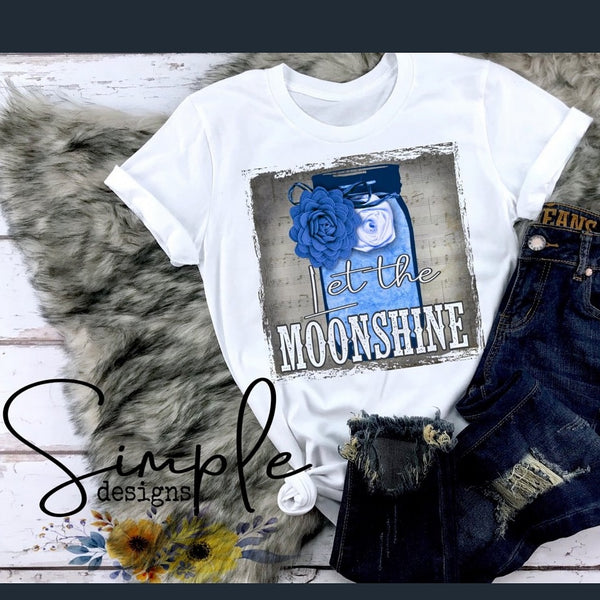 Let the Moonshine T-shirt, Luke Combs Lyrics T-shirt, Raglan, Music Lyrics