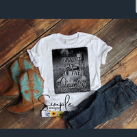 Caught Up In The Country Rodney Atkins T-shirt, Raglan, Music Lyrics