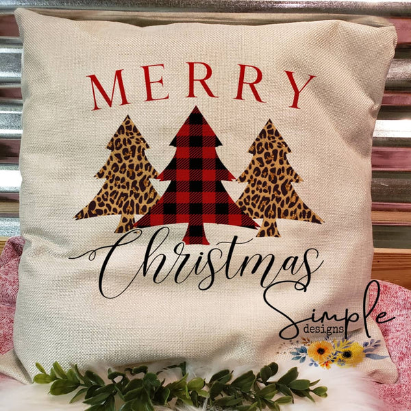 Merry Christmas Pillow Sham, Decorative Pillow Cases, Throw Pillow
