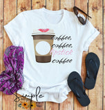 Coffee Coffee Lipstick Coffee Monogram  T-Shirts, Custom shirts