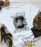 Resting Witch Face T-shirt, Long Sleeve Tees, Raglans, Fall