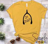 Oh Snap T-shirt, Thanksgiving Bella Canvas Fall T-shirt Sale