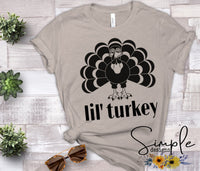 Lil Turkey T-shirt, Thanksgiving Bella Canvas Fall T-shirt Sale
