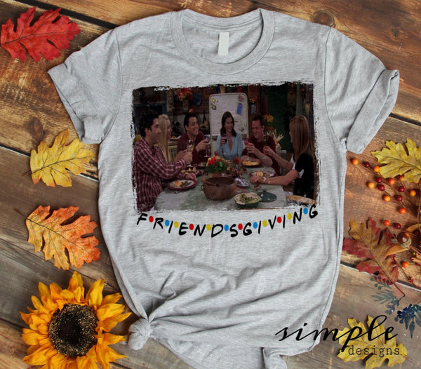 Friendsgiving T-shirt, Long Sleeve Tees, Raglans, Fall