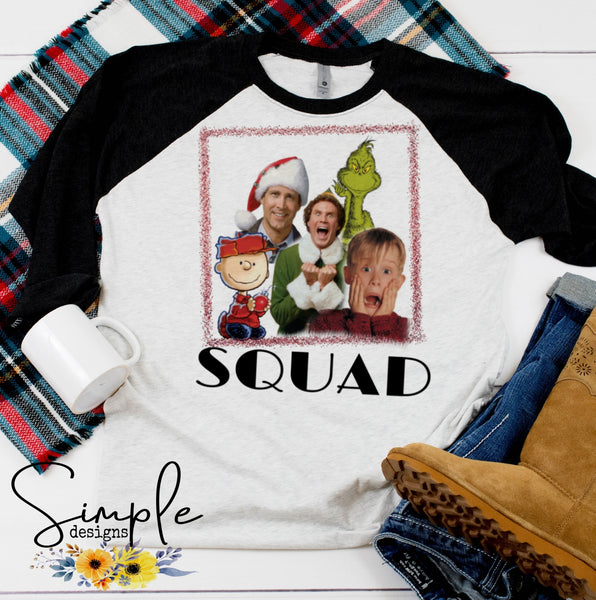 Christmas Squad T-shirt, Long Sleeve Tees, Raglans