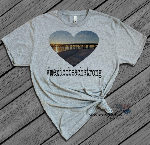 Mexico Beach Heart Florida Shirts, Donations, Fundraiser
