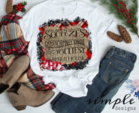 Santa Squeezes Down a Chimney T-shirt, Christmas Shirts, National Lampoons