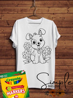 Puppy Easter Color-It, Washable Marker Designs, Puzzle, Pillow Cases