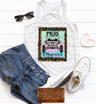 Mud and Mascara Leopard Frame  T-shirt, Custom Tees, Tank Tops