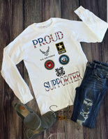 Proud Supporter T-shirt, Independence, 4th Of July, Military, Veteran, Navy, Marines, Army, Air Force, Coast Guard