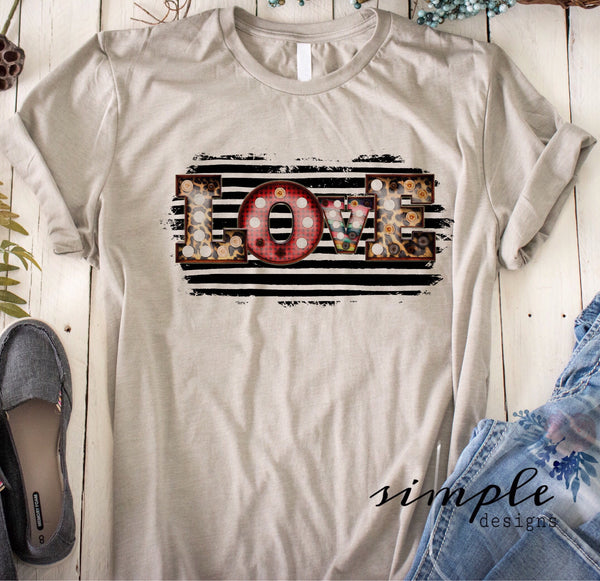 Love Marquee Tribal Stripes T-shirt, Valentines Day, Love Never Fails, Love One Another