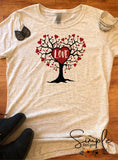 Love Tree T-shirt, Valentines Day, Love Never Fails, Love One Another