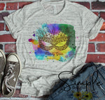 Colorful Mask T-shirt, Mardi Gras, NOLA, New Orleans, King Cake