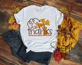 Give Thanks T-shirt, Thanksgiving Bella Canvas Fall T-shirt Sale