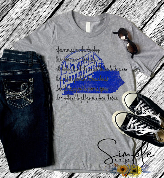 Tyler Childers Blue KY T-shirt, Country Music Shirts, Kids, Youth, Raglan