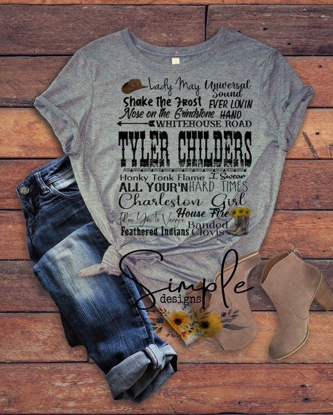 Tyler Childers T-shirt, Country Music Shirts, Kids, Youth, Raglan