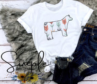 Arrow Print Design T-shirt, Livestock, Show Steer, FFA Tees
