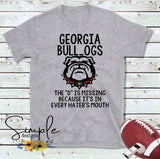 Georgia Bull_dogs The D is Missing T-shirt, Sports, Raglans