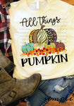 All Things Pumpkin T-shirt, Fall, Thanksgiving Custom Tees