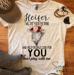 Heifer I Will Put You in the Trunk T-shirt, Raglan, Country, Farm Life