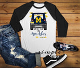 Michigan Football Raglan, Football Shirts, Team Shirts