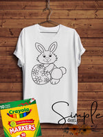Easter Bunny With Egg, Happy Easter Color-It, Washable Marker Designs, Puzzle, Pillow Cases
