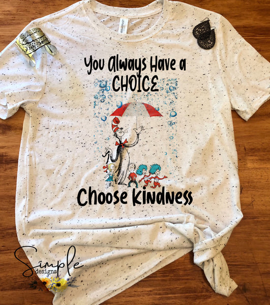 Choose Kindness T-shirt, Dr Seuss, Kids, Youth, Raglan