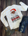 Winking Santa There's Some Hoes in This House T-shirt, Cute Humor Graphic Tees, Custom Raglans