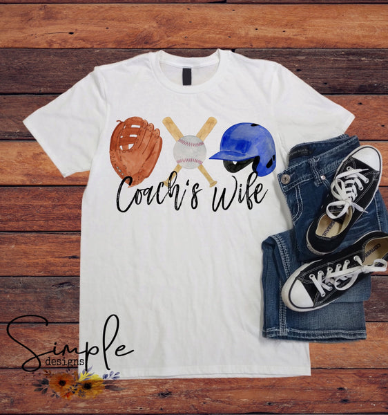 Coach' Wife T-shirt, Work Flow Tees, Custom Job Shirts